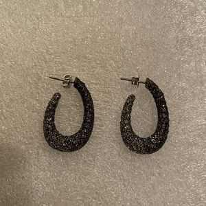 NWT and never worn beautiful sparkle hoops